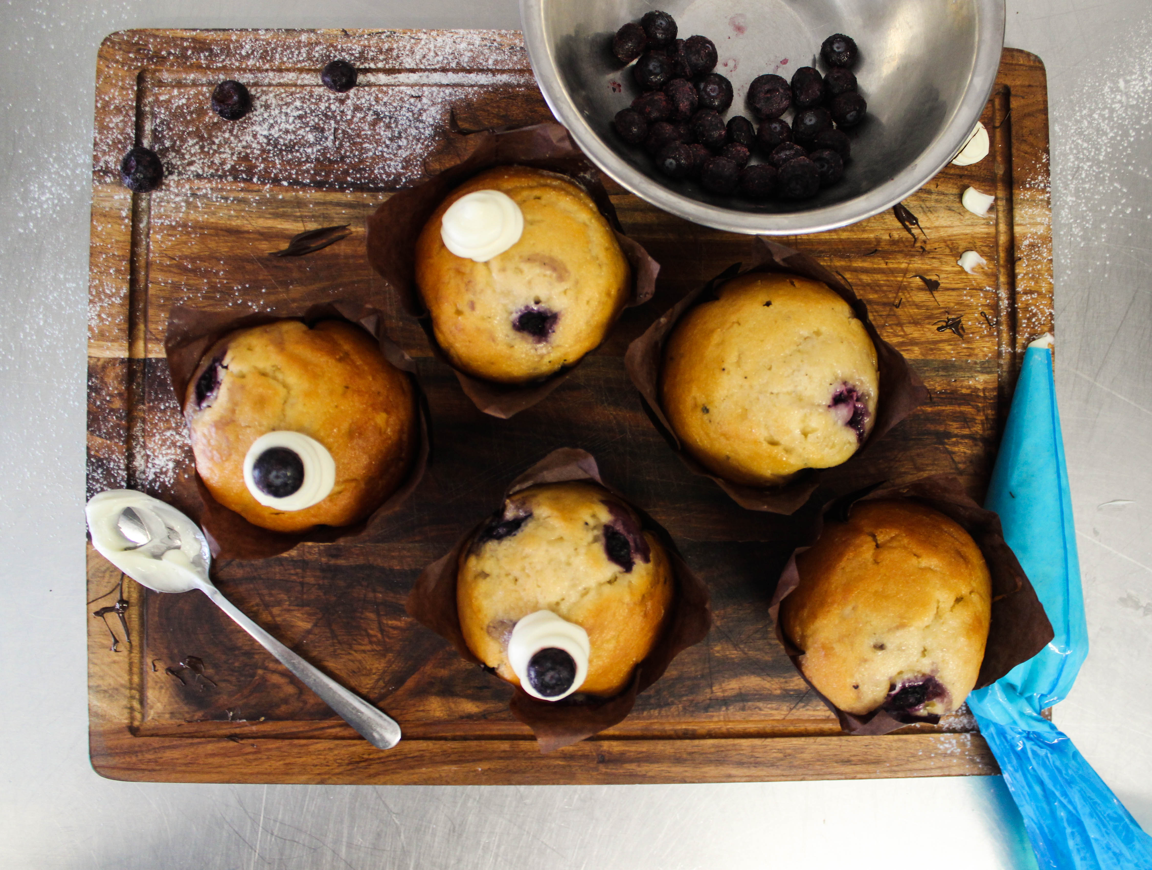 Blueberry and honey muffin